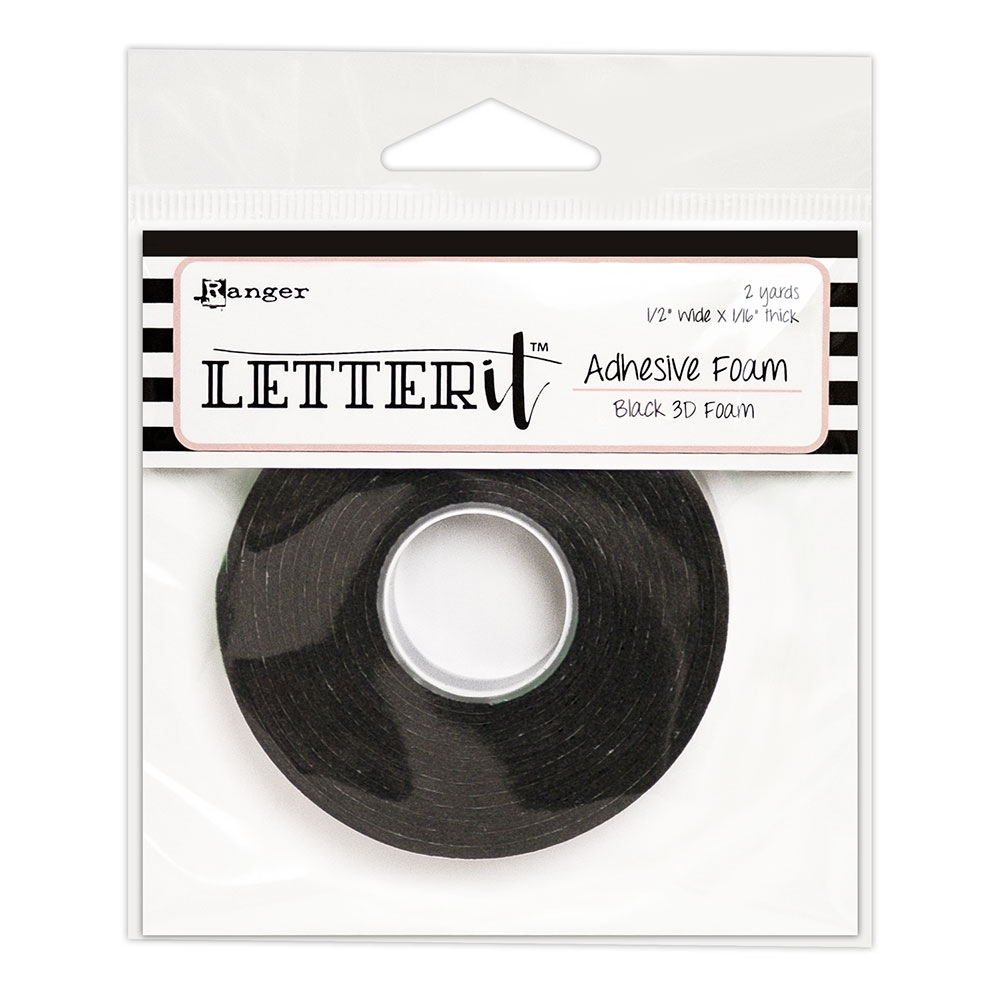 Ranger BLACK Letter It Adhesive Foam lea62882 zoom image