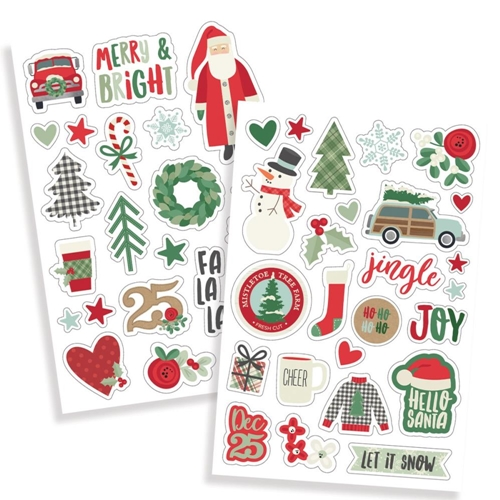 Simple Stories MERRY AND BRIGHT Puffy Stickers 10326 Preview Image