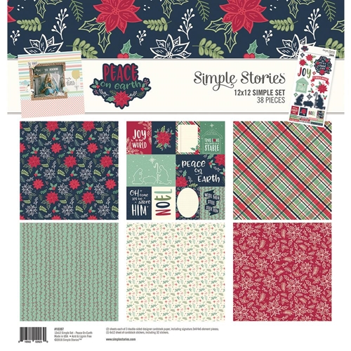 Simple Stories PEACE ON EARTH 12 x 12 Collection Kit 10397 Preview Image