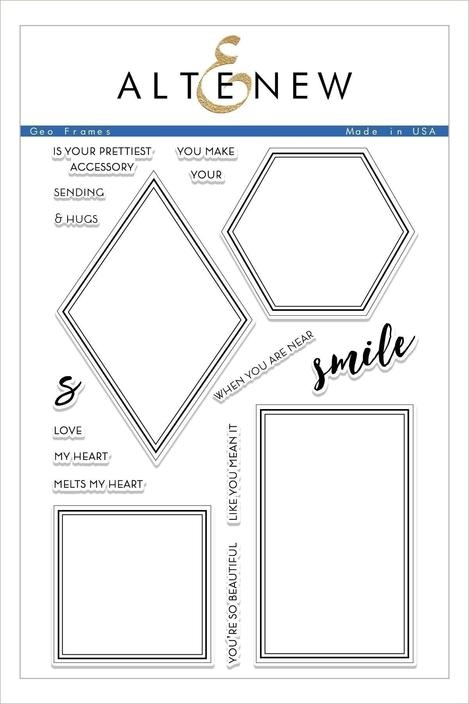 Altenew GEO FRAMES Clear Stamps ALT2476 zoom image