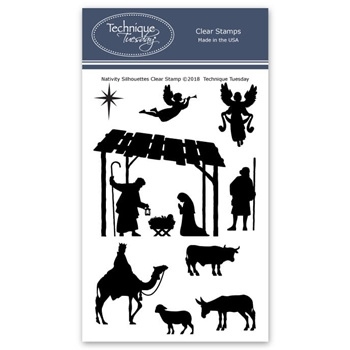 Technique Tuesday NATIVITY SILHOUETTES Clear Stamps 02714
