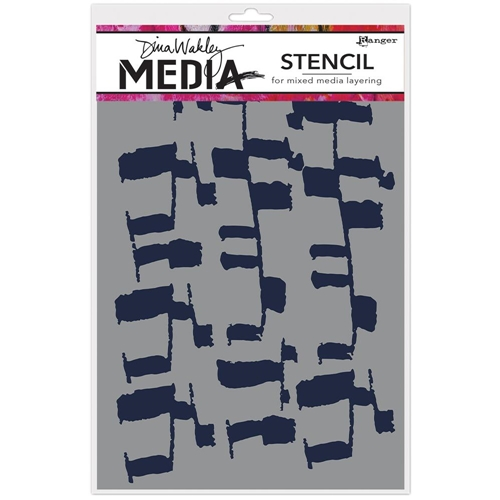 Dina Wakley LADDERS Media Stencil MDS63179* Preview Image
