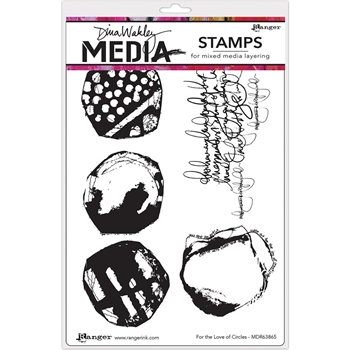Dina Wakley FOR THE LOVE OF CIRCLES Media Cling Rubber Stamp MDR63856