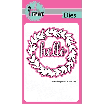 Pink and Main WREATH BASE Dies PNM176