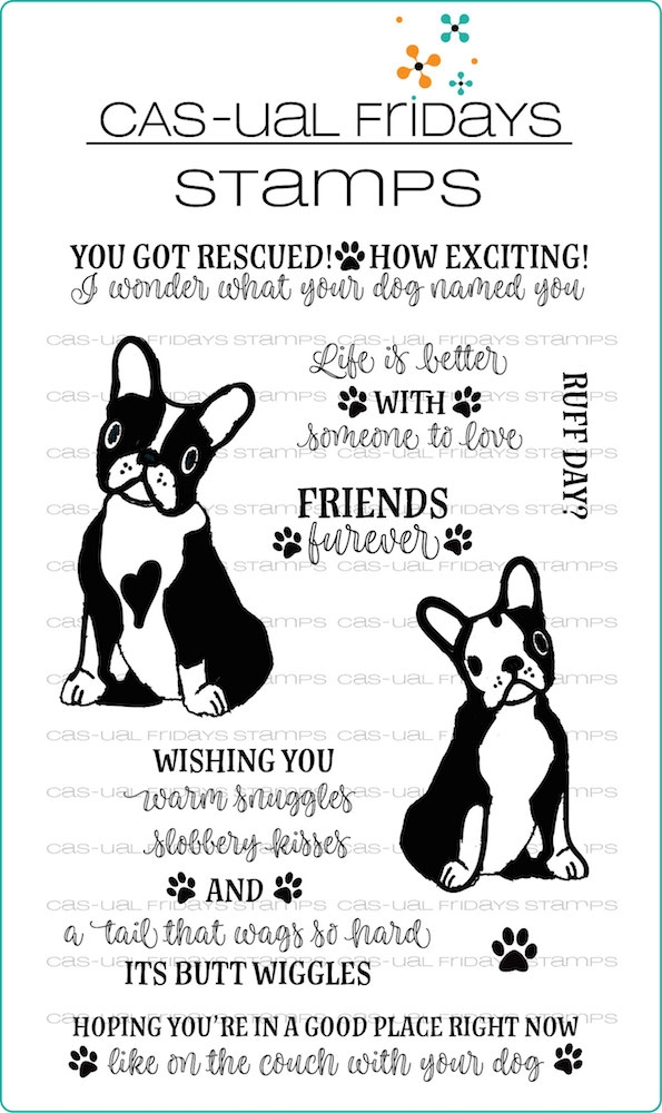 CAS-ual Fridays NATE AND FRIDAY Clear Stamps CFS1818 zoom image