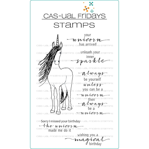 CAS-ual Fridays BE A UNICORN Clear Stamps CFS1815 Preview Image