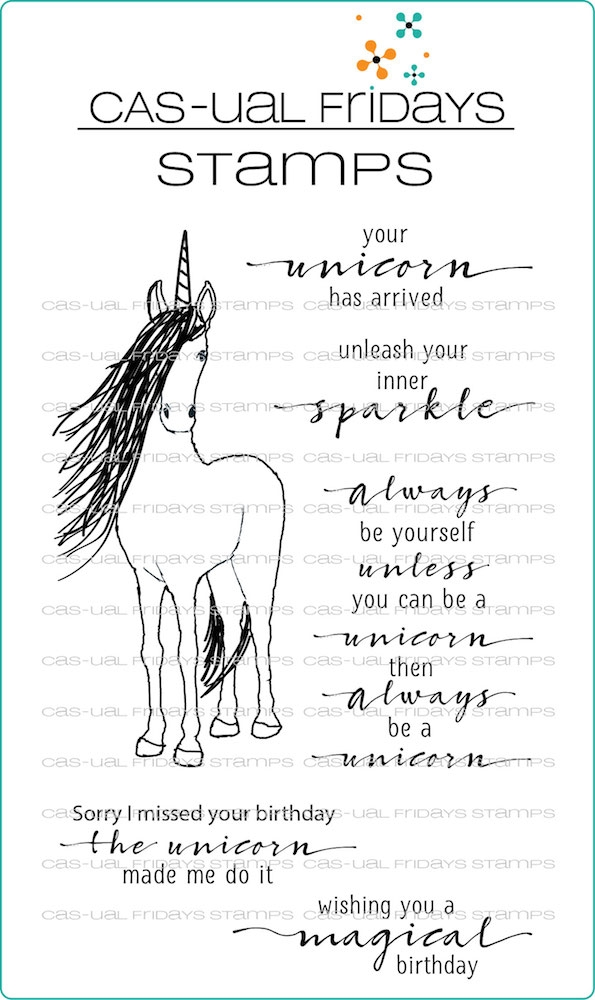 CAS-ual Fridays BE A UNICORN Clear Stamps CFS1815 zoom image