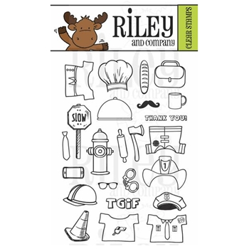 Riley and Company Clear Stamp Dress Up Riley PROFESSIONAL RCLR28