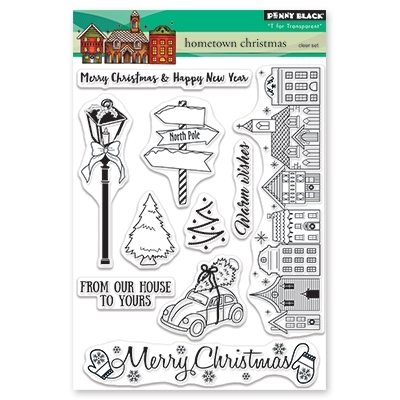 Penny Black Clear Stamps HOMETOWN CHRISTMAS 30-499 zoom image