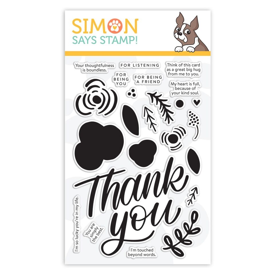 Simon Says Clear Stamps THANK YOU FLOWERS SSS101917 zoom image
