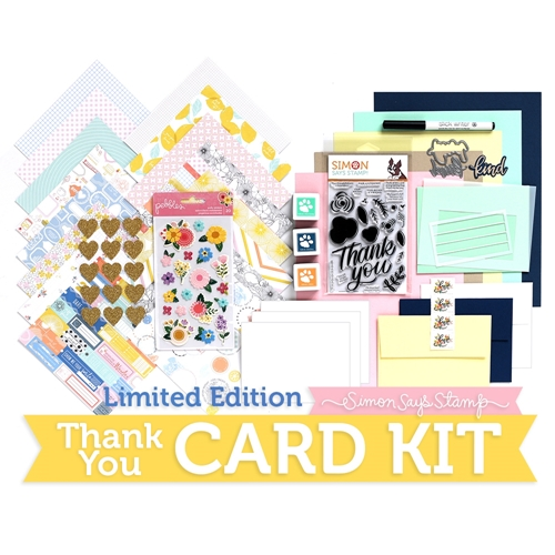 Limited Edition Simon Says Stamp Card Kit THANK YOU SSSTHKU Preview Image