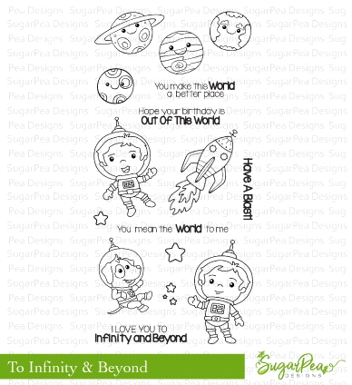 SugarPea Designs TO INFINITY AND BEYOND Clear Stamp Set spd-00308* Preview Image