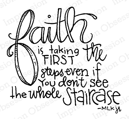Impression Obsession Cling Stamp FAITH E19880 Preview Image