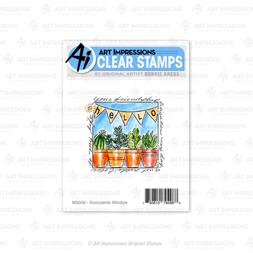 Art Impressions SUCCULENTS Window to the World Clear Stamp 5048 Preview Image