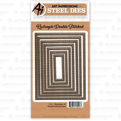 Art Impressions RECTANGLE A2 Double Stitched Steel Dies 5063 Preview Image