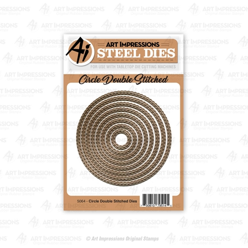 Art Impressions CIRCLE DOUBLE STITCHED Steel Dies 5064 Preview Image