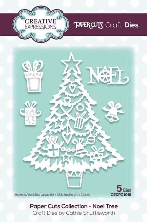 Creative Expressions NOEL TREE Paper Cuts Collection Dies cedpc1045 zoom image