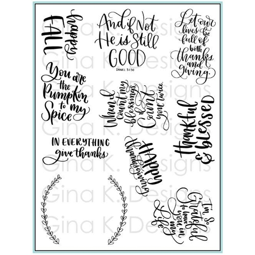 Gina K Designs THANKFUL AND BLESSED Clear Stamps 3405 Preview Image