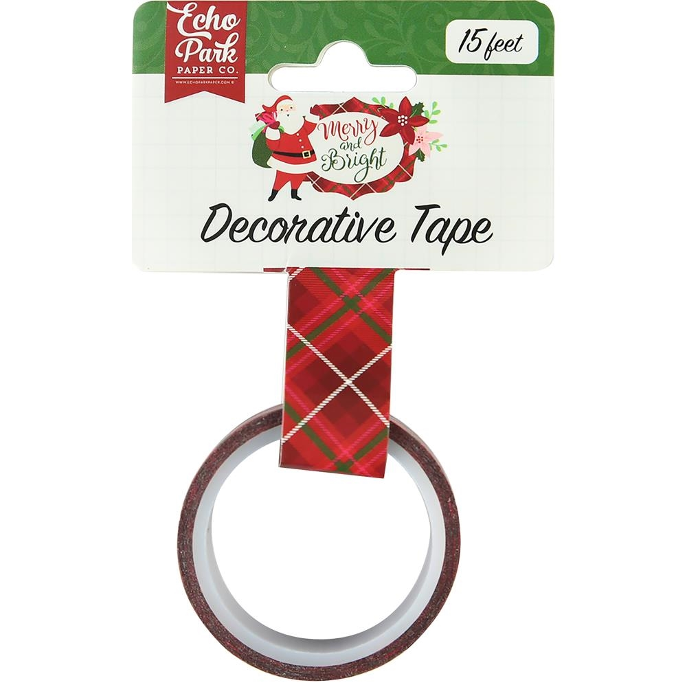 Echo Park MERRY PLAID Decorative Tape mb160026 zoom image