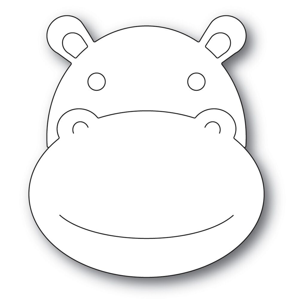 Simon Says Stamp BIG PICTURE BOOK HIPPO Wafer Dies s567 zoom image