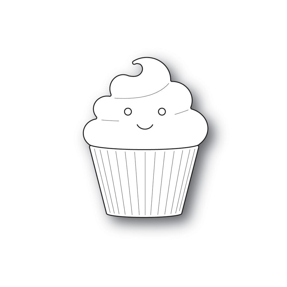 Simon Says Stamp BIG PICTURE BOOK CUPCAKE Wafer Dies s579 zoom image
