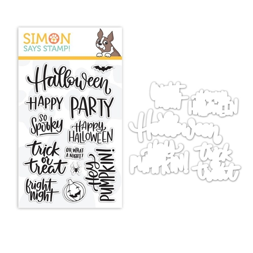 Simon Says Stamps And Dies HANDLETTERED HALLOWEEN set338hh Preview Image