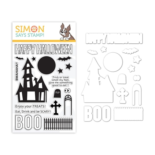 Simon Says Stamps And Dies BWAHAHA set336bw* Preview Image