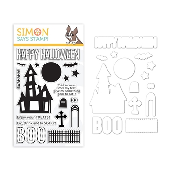 Simon Says Stamps And Dies BWAHAHA set336bw