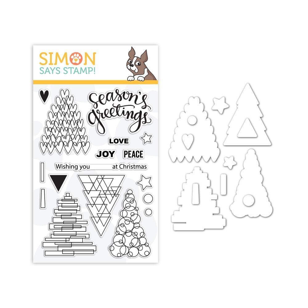 Simon Says Stamps And Dies FESTIVE TREES set339ft zoom image