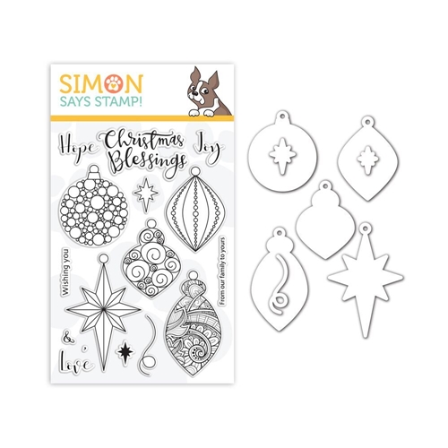 Simon Says Stamps And Dies ORNATE ORNAMENTS set340ro Preview Image
