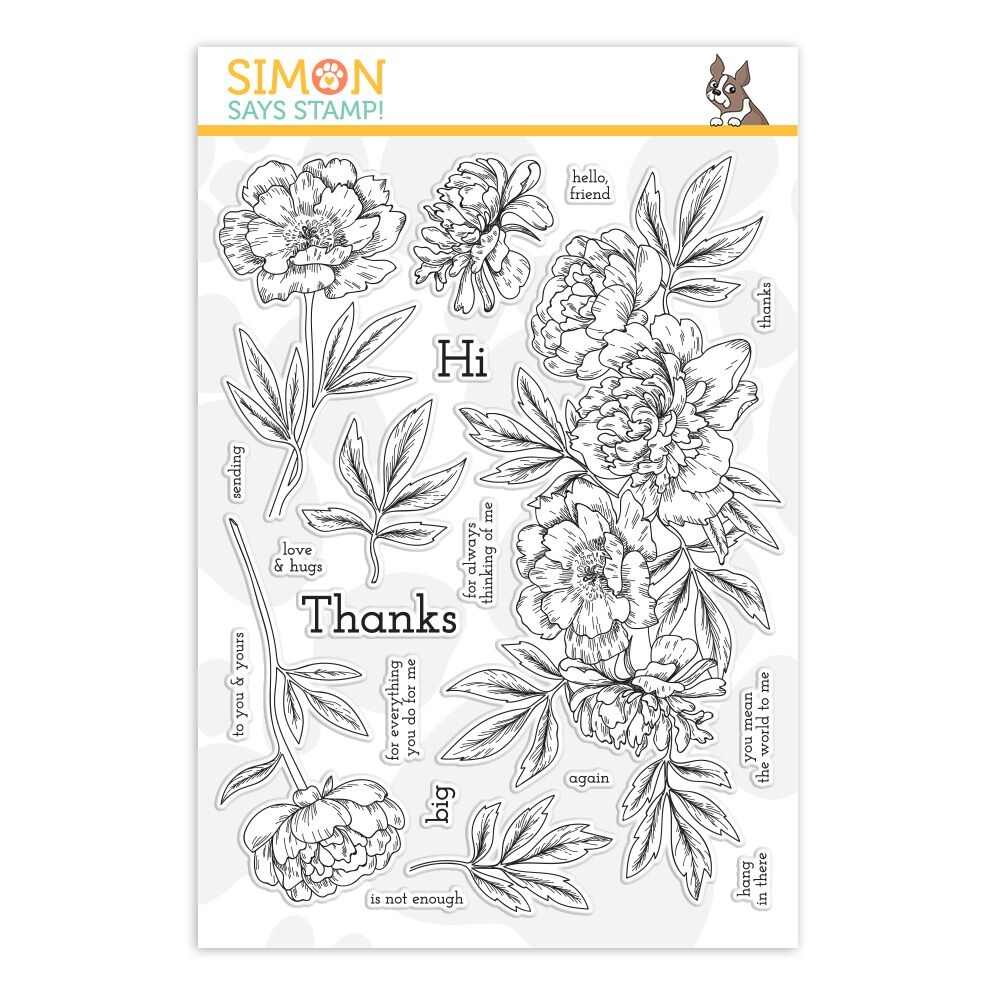 Simon Says Clear Stamps BEAUTIFUL FLOWERS 2 sss201884 zoom image