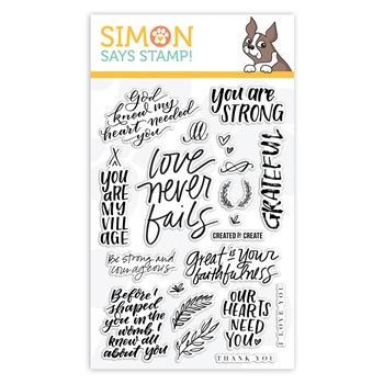 Simon Says Clear Stamps SENTIMENTS sss101908