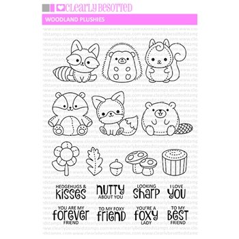 Clearly Besotted WOODLAND PLUSHIES Clear Stamps