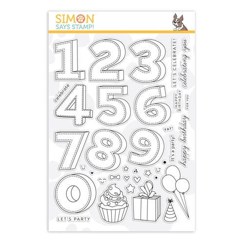 Simon Says Clear Stamps BIRTHDAY NUMBERS sss101886 Preview Image