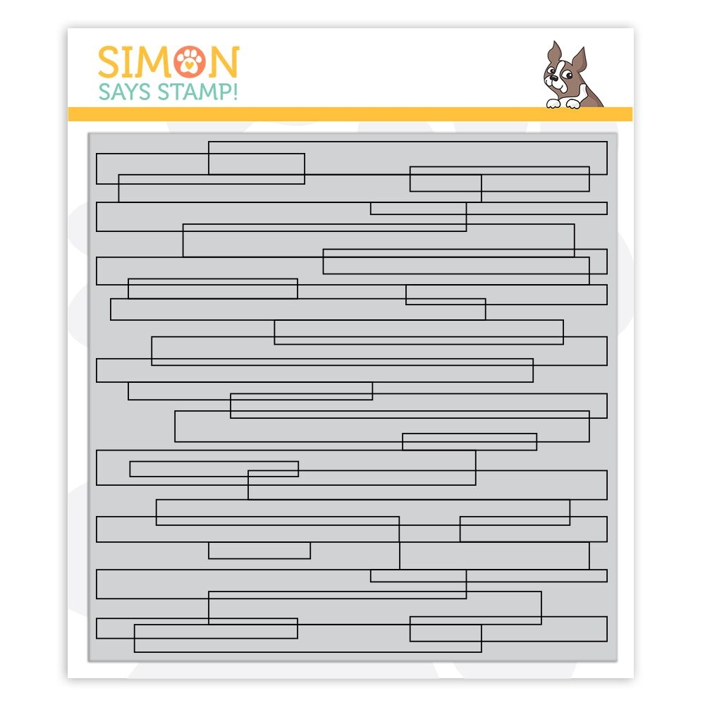 Simon Says Cling Rubber Stamp PLANK BACKGROUND sss101882 zoom image