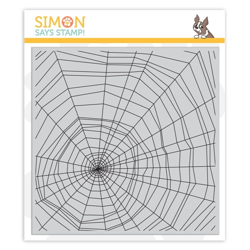 Simon Says Cling Rubber Stamp SPIDER WEB sss101869 Preview Image