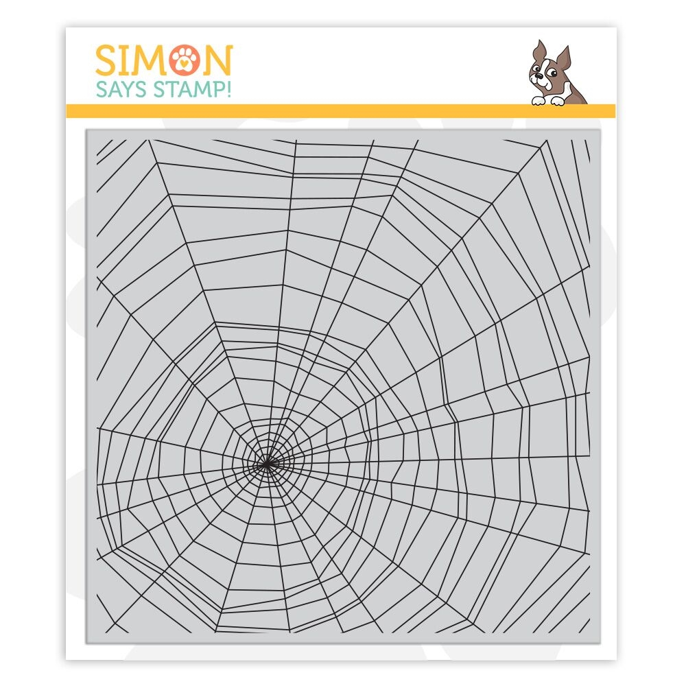 Simon Says Cling Rubber Stamp SPIDER WEB sss101869 zoom image