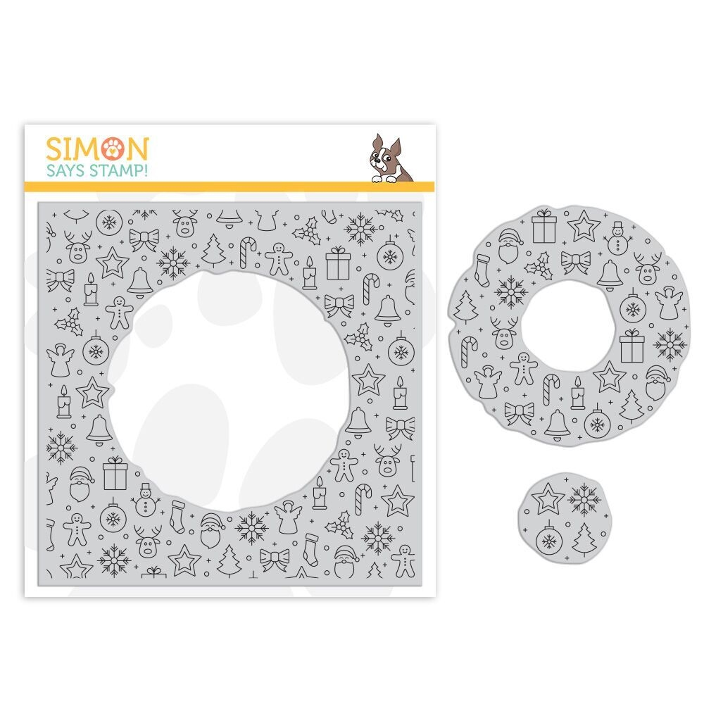 Simon Says Cling Rubber Stamp CENTER CUT HOLIDAY ICONS sss101885 zoom image