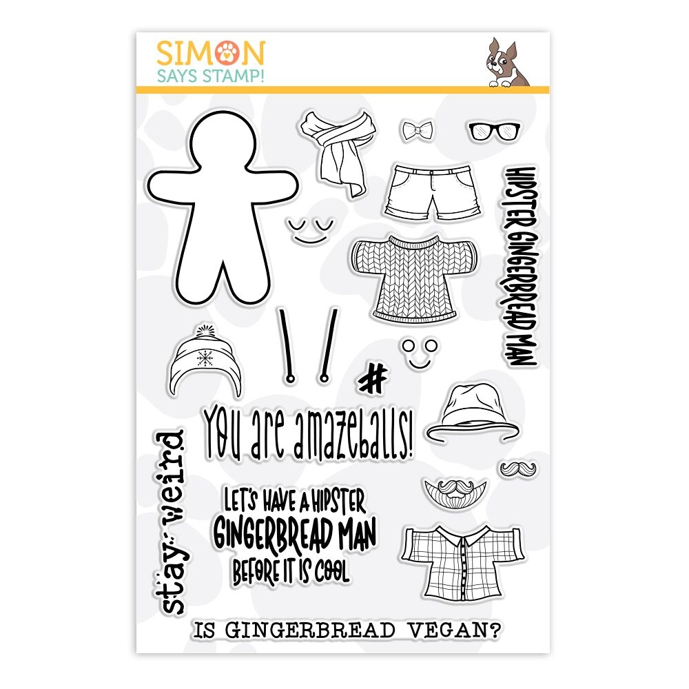 Simon Says Clear Stamps HIP GINGERBREAD Man sss101918 * zoom image