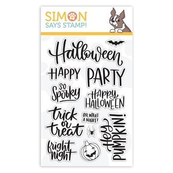 Simon Says Clear Stamps HANDLETTERED HALLOWEEN sss101873