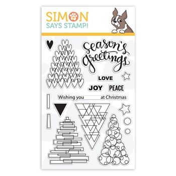 Simon Says Clear Stamps FESTIVE TREES sss101880