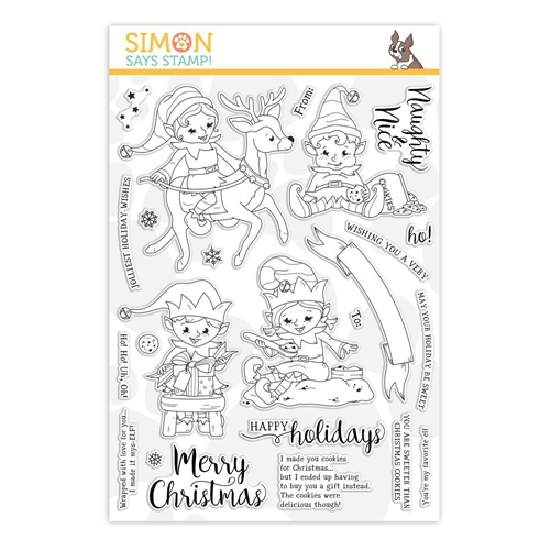 Simon Says Clear Stamps NAUGHTY AND NICE ELVES sss101914 Preview Image