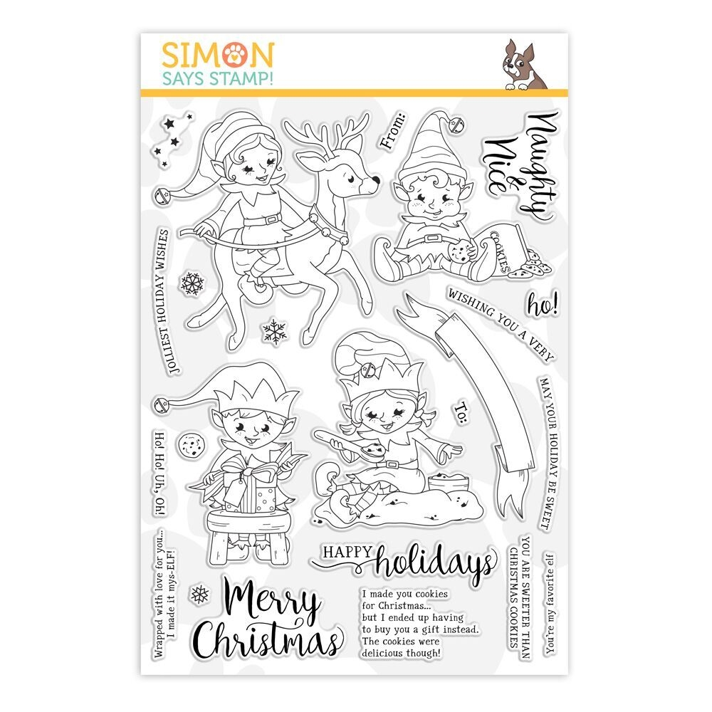 Simon Says Clear Stamps NAUGHTY AND NICE ELVES sss101914 zoom image
