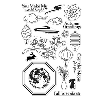 Hero Arts Clear Stamps AUTUMN MOON CM304