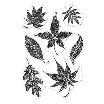 Hero Arts Clear Stamps TEXTURED LEAVES CM301*
