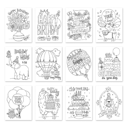 Simon Says Stamp Suzy's IT'S YOUR BIRTHDAY Watercolor Prints szwcyb18 Preview Image