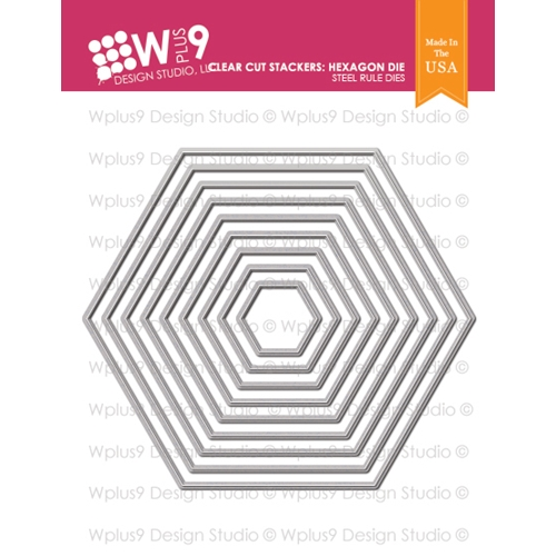 Wplus9 CLEAR CUT STACKERS HEXAGON Designer Dies wp9d-218 Preview Image