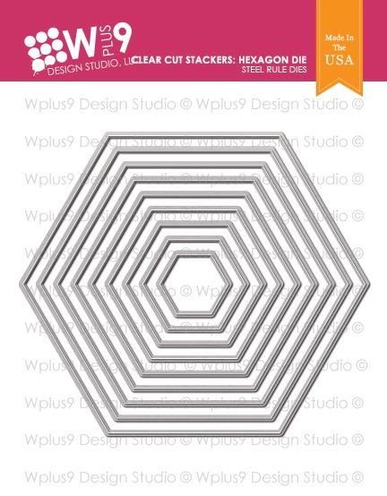 Wplus9 CLEAR CUT STACKERS HEXAGON Designer Dies wp9d-218 zoom image