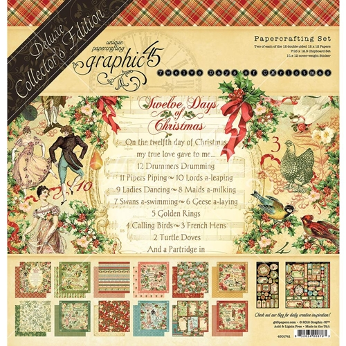 Graphic 45 TWELVE DAYS OF CHRISTMAS 12 x 12 Deluxe Collector's Edition 4501741 Preview Image