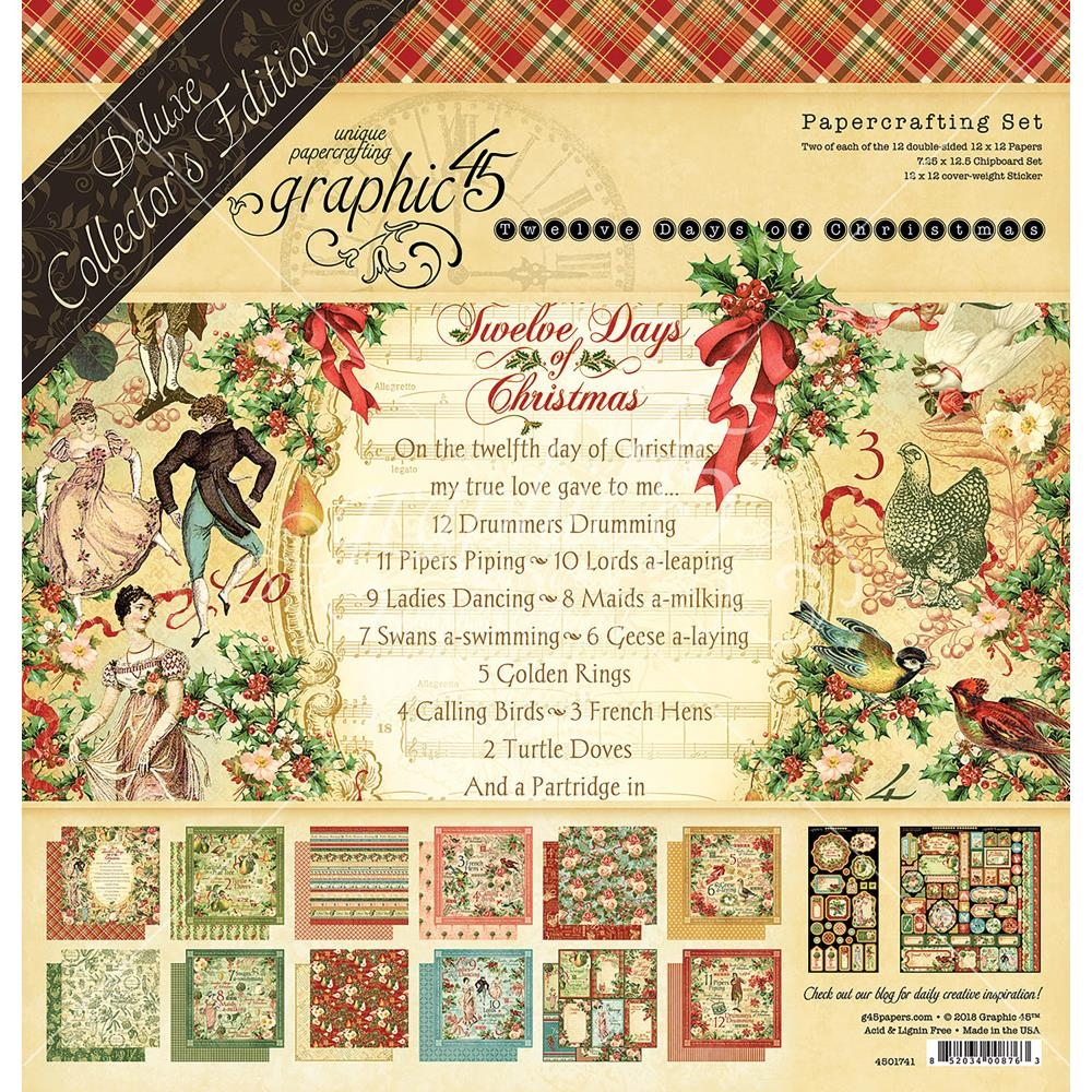 Graphic 45 TWELVE DAYS OF CHRISTMAS 12 x 12 Deluxe Collector's Edition 4501741 zoom image